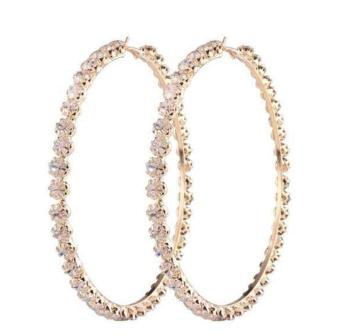 Riri Crystal Hoop Earrings