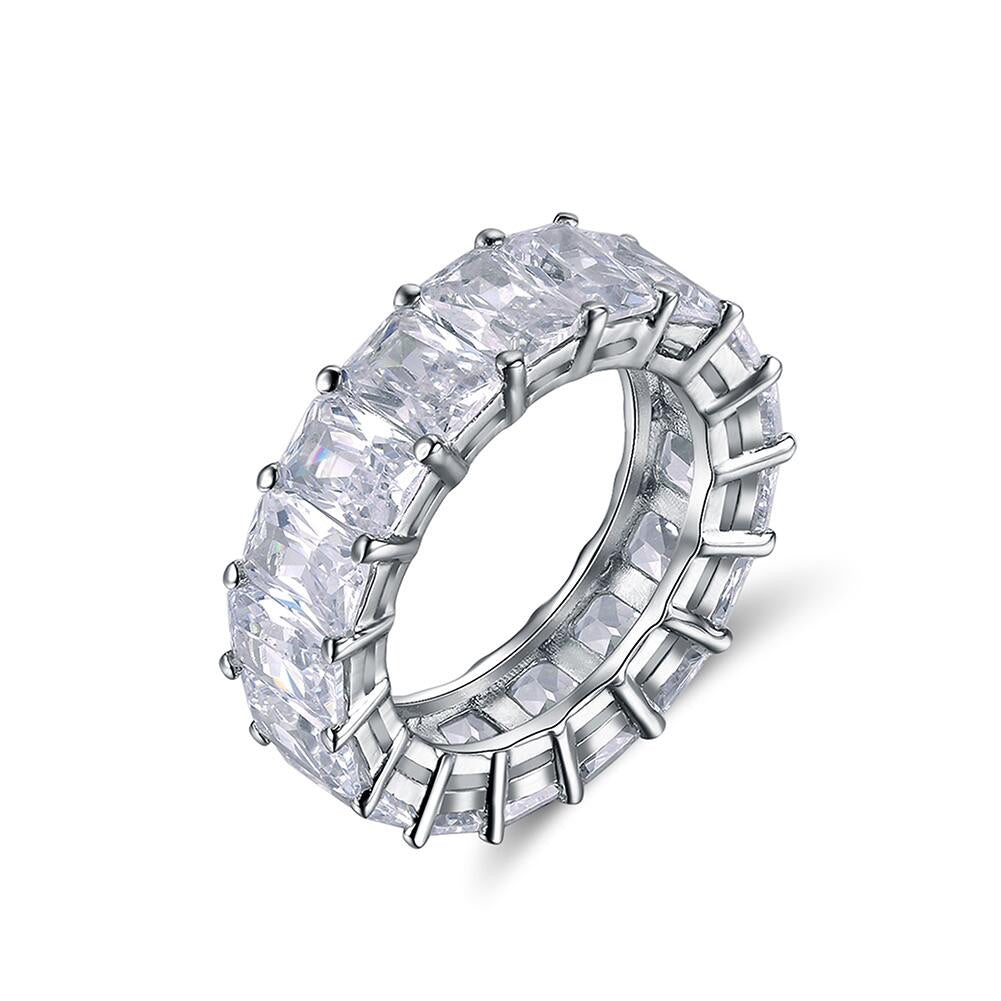 Silver Baguette Eternity Band