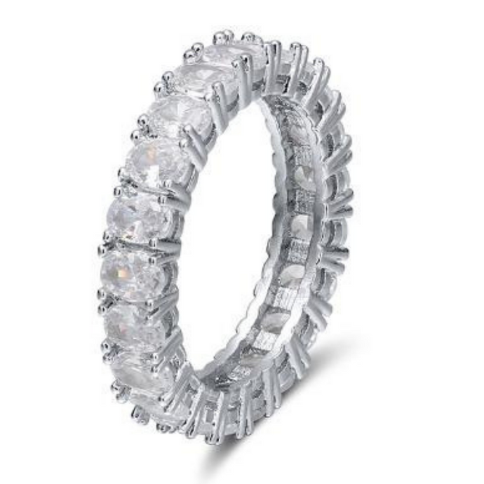 Mini Oval shape Eternity Band