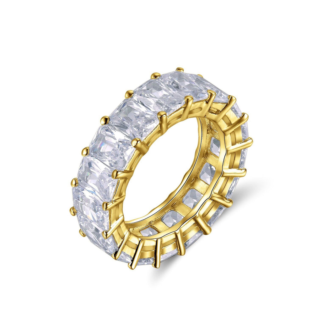 Gold Baguette Eternity Band