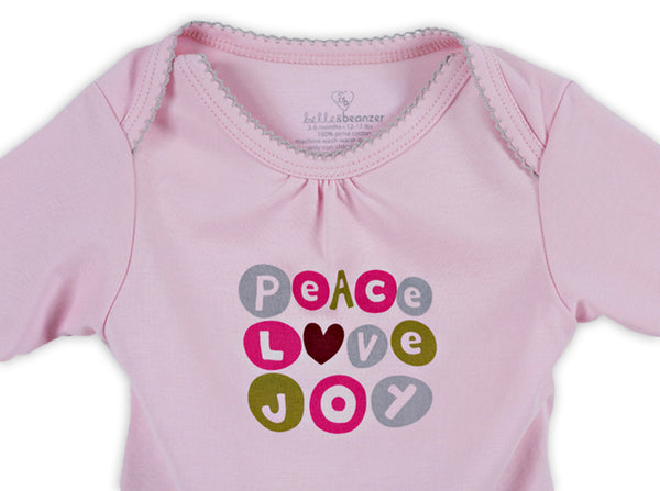 quick-change romper™ girl peace, love, joy - ALMOST GONE