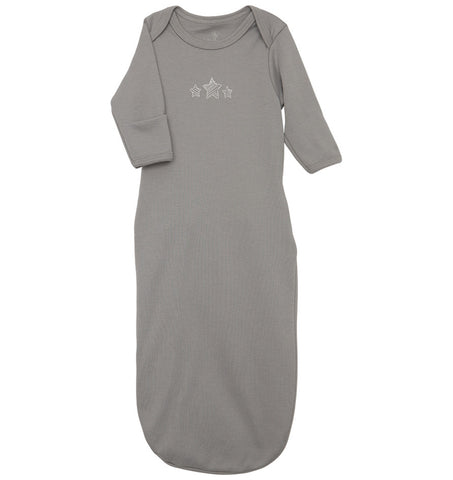 quick-change roo gown™, gray stars - NEW!