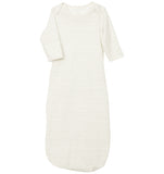 quick-change roo gown™, cloud dancer/gray stripe