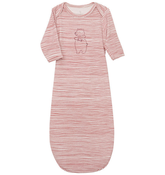 quick-change roo gown™, ski patrol stripe / bear hugs - NEW!