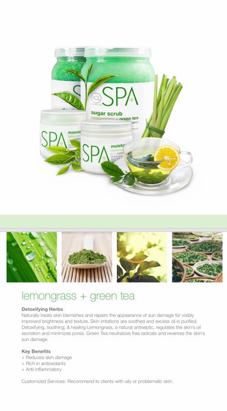 Massage Cream - lemongrass & green tea , 85gr.