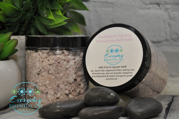 Calming & Soothing Detoxifying Bath Salt - Everyday Essential Oil