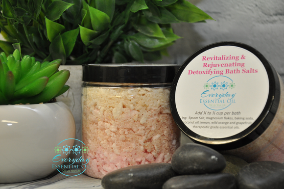 Revitalizing & Rejuvenating Detoxifying Bath Salts - Everyday Essential Oil