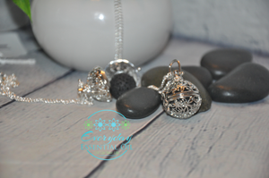 Sphere Diffuser Pendant with Lava Stone - Everyday Essential Oil