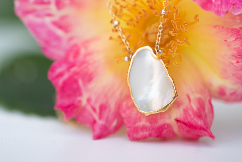 Lulu Designs Jewelry's Atlantis Necklace in Mother of Pearl
