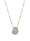 2020 Atlantis Necklace 14k Gold Fill Aquamarine