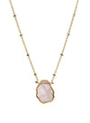 2020 Atlantis Necklace 14k Gold Fill Rose Quartz