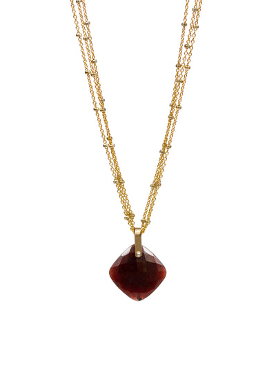 2020 Lulu Designs Hera Necklace 14k Gold Fill Ruby