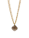 2020 Lulu Designs Hera Necklace 14k Gold Fill Smoky Quartz