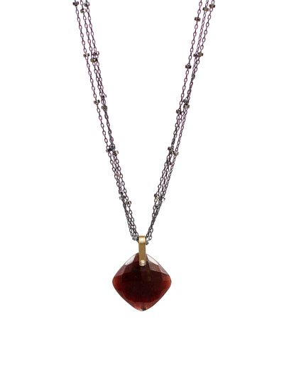 2020 Lulu Designs Hera Necklace Oxidized Sterling Silver Ruby