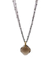 2020 Lulu Designs Hera Necklace Oxidized Sterling Silver Brown Moonstone