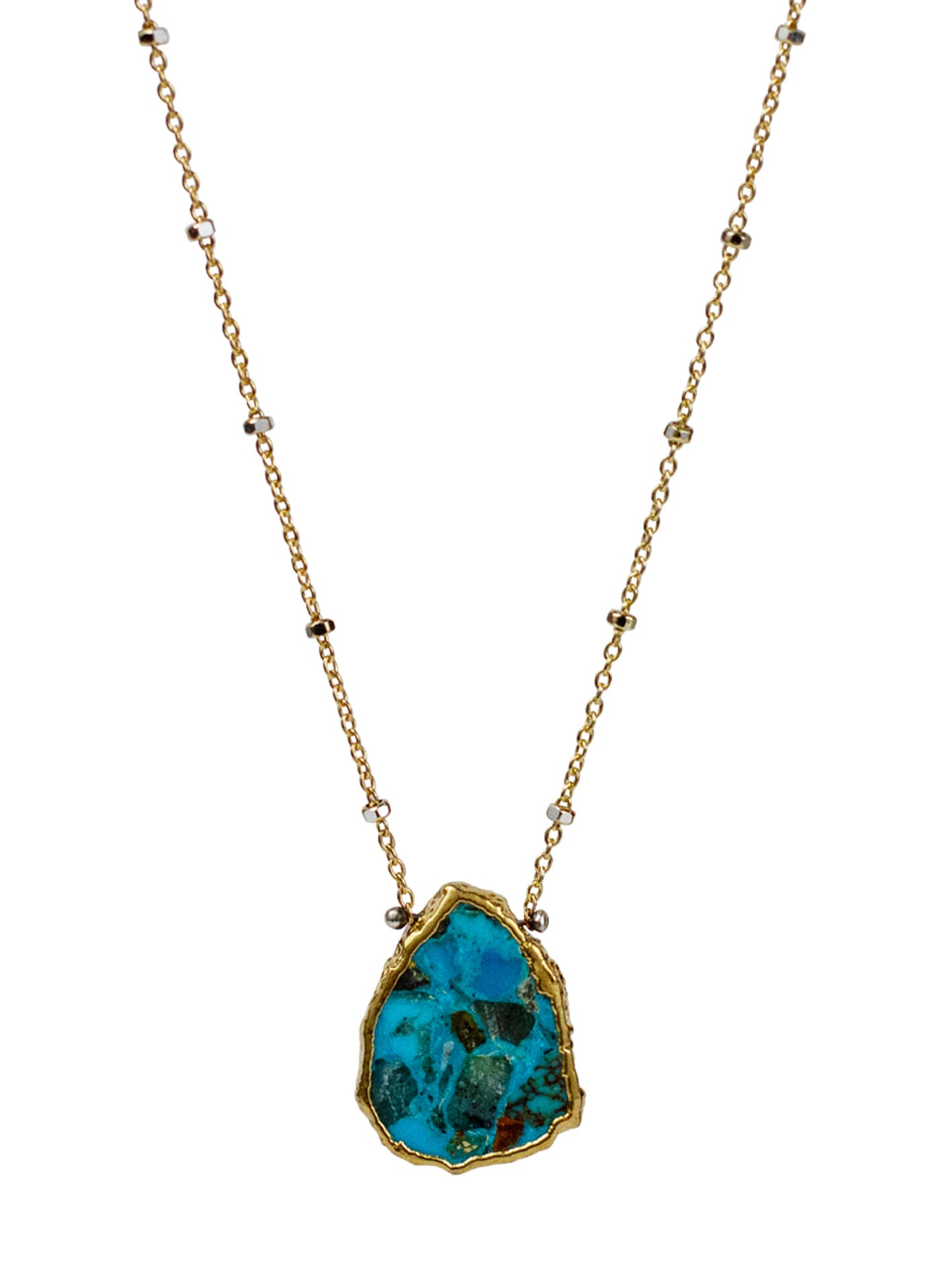 2020 Atlantis Necklace 14k Gold Fill Turquoise