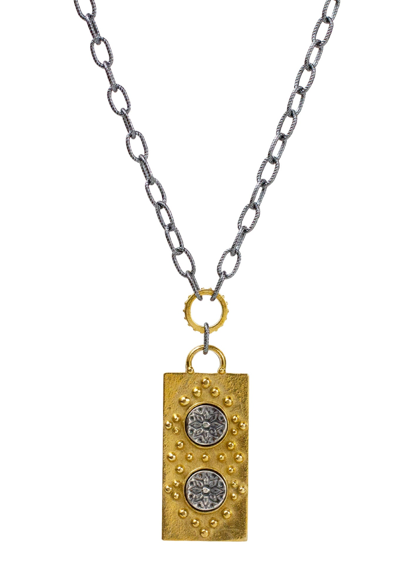 "Channel Necklace - Mantra ""manifest your destiny"""