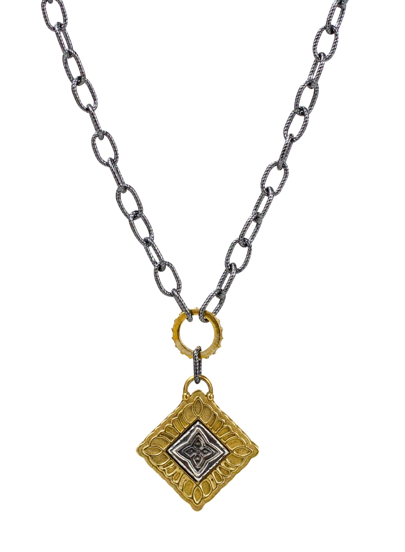 "Channel Necklace - Sutra ""evolve your mind"""