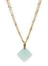 2020 Lulu Designs Hera Necklace 14k Gold Fill Aqua Chalcedony
