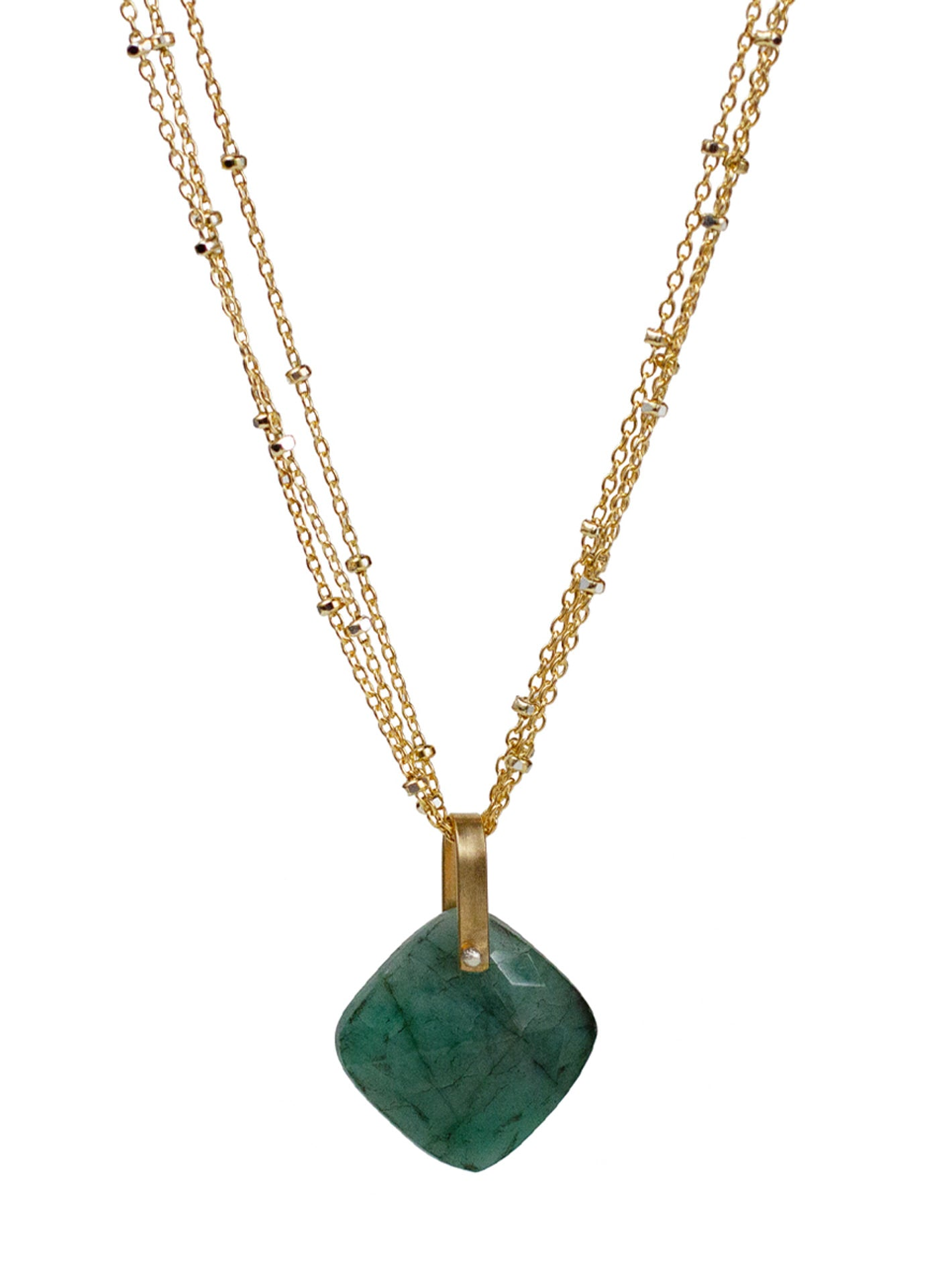 2020 Lulu Designs Hera Necklace 14k Gold Fill Emerald