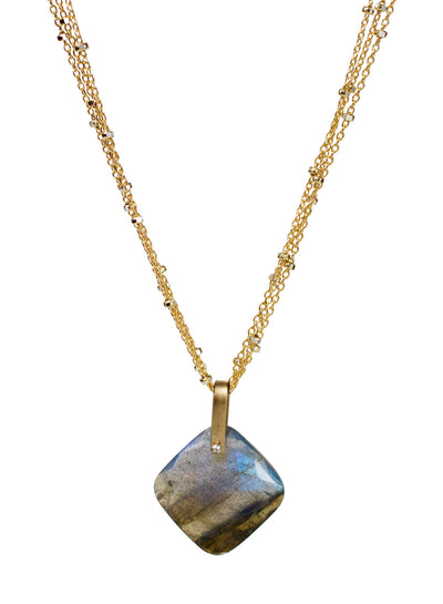 2020 Lulu Designs Hera Necklace 14k Gold Fill Labradorite