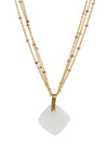 2020 Lulu Designs Hera Necklace 14k Gold Fill Moonstone
