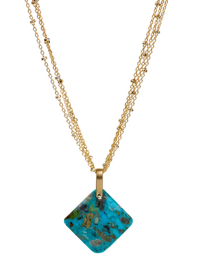 2020 Lulu Designs Hera Necklace 14k Gold Fill Turquoise