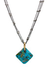 2020 Lulu Designs Hera Necklace Oxidized Sterling Silver Turquoise