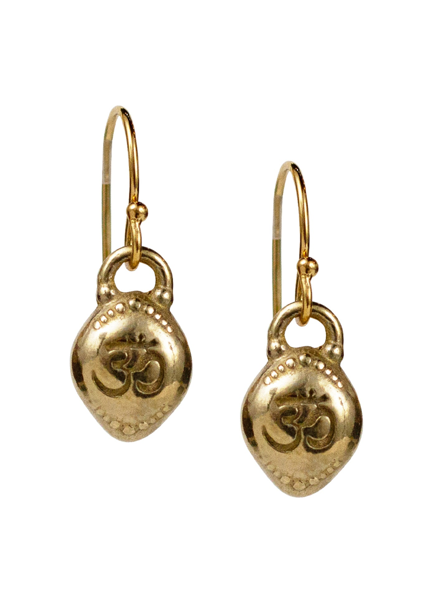"Om Earrings ""oneness with all"""