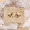 14K Diamond Petite Butterfly Posts