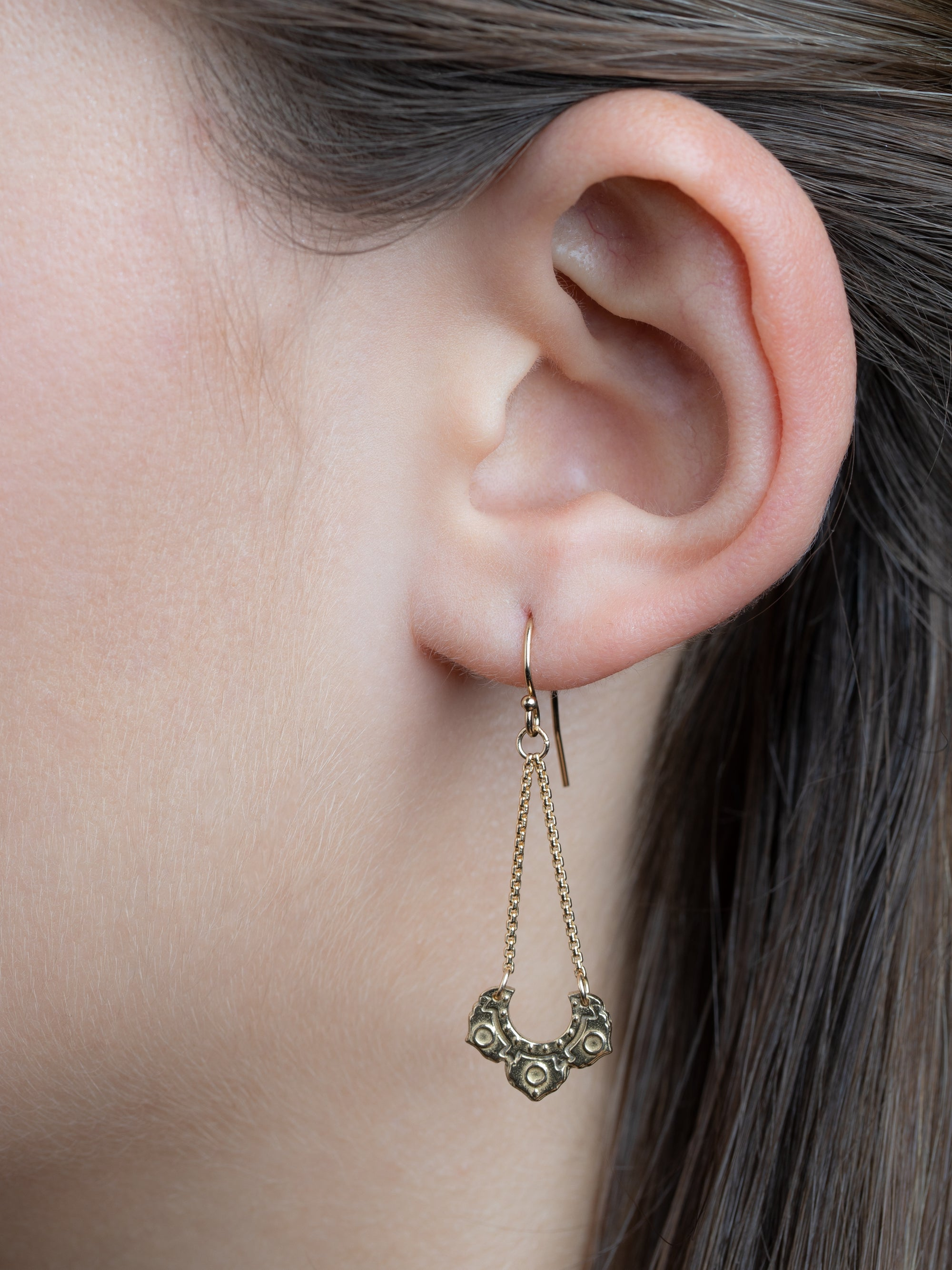 "Asana Earrings ""ground your power"""