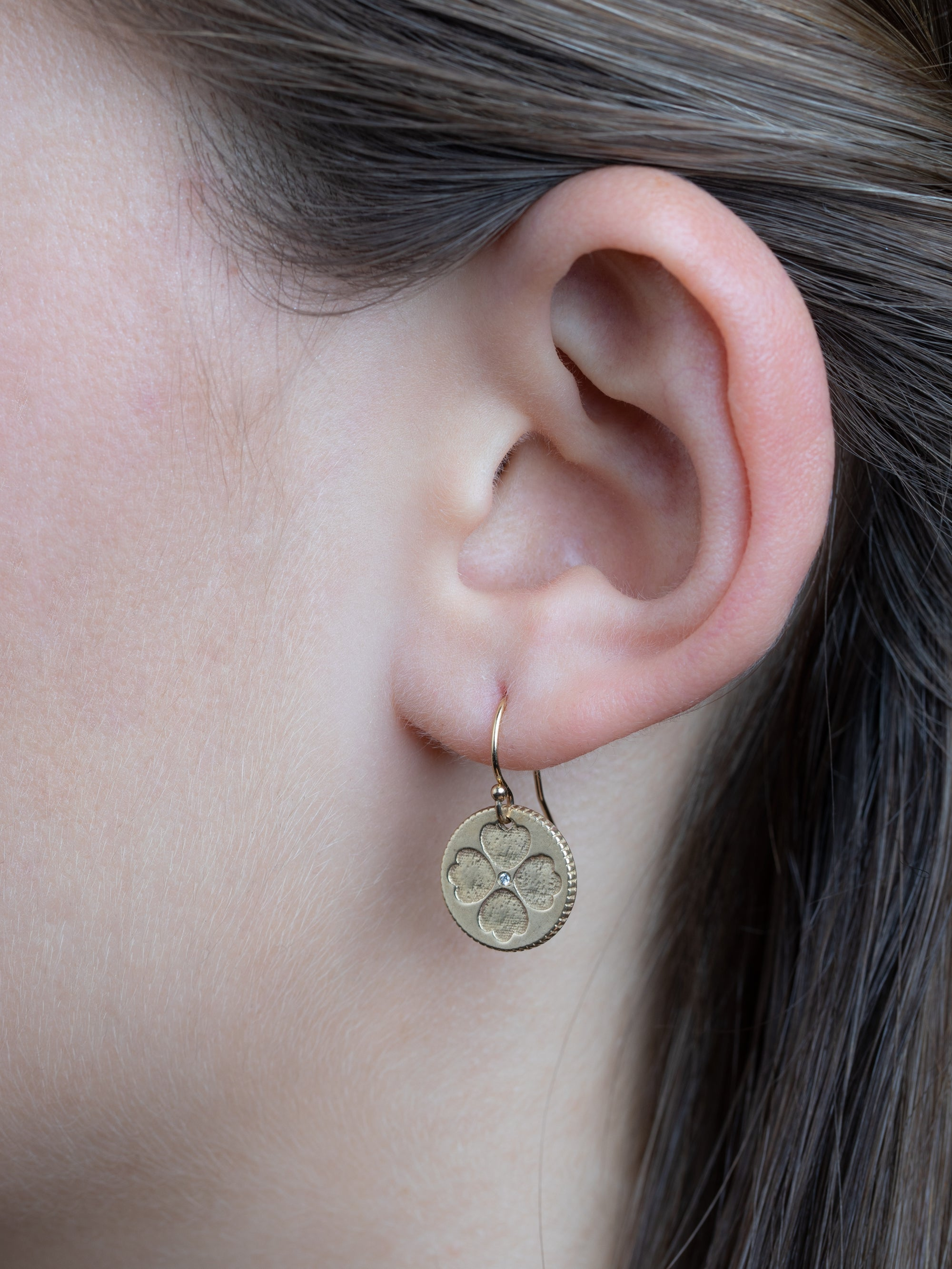 "Flynn Earrings - Large ""opportunity & luck"""