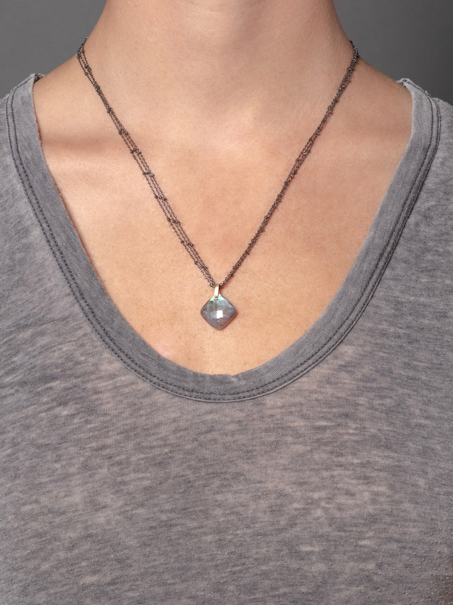 2020 Lulu Designs Hera Necklace Oxidized Sterling Silver Labradorite