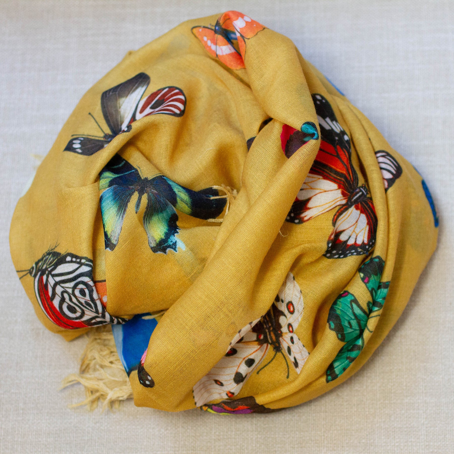 Butterfly Cotton Scarf