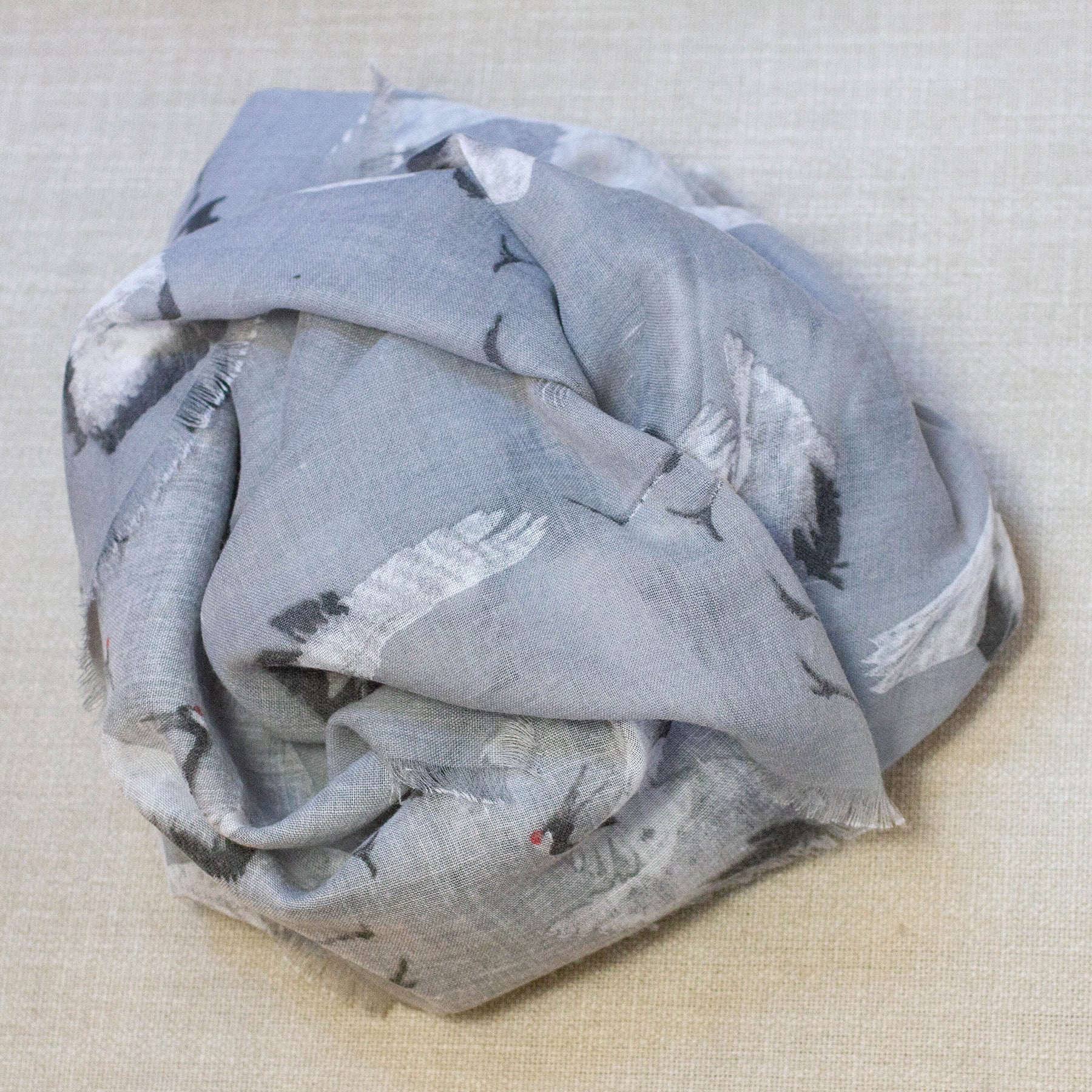 Crane Cotton Scarf