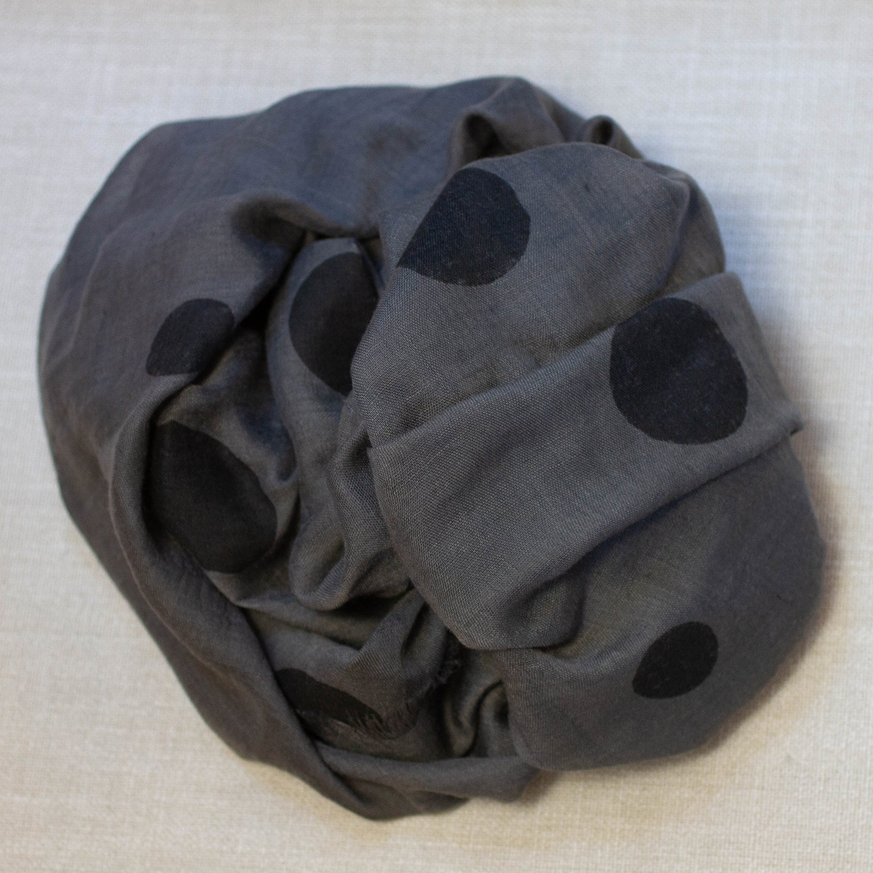 Polka Dot Cotton Scarf