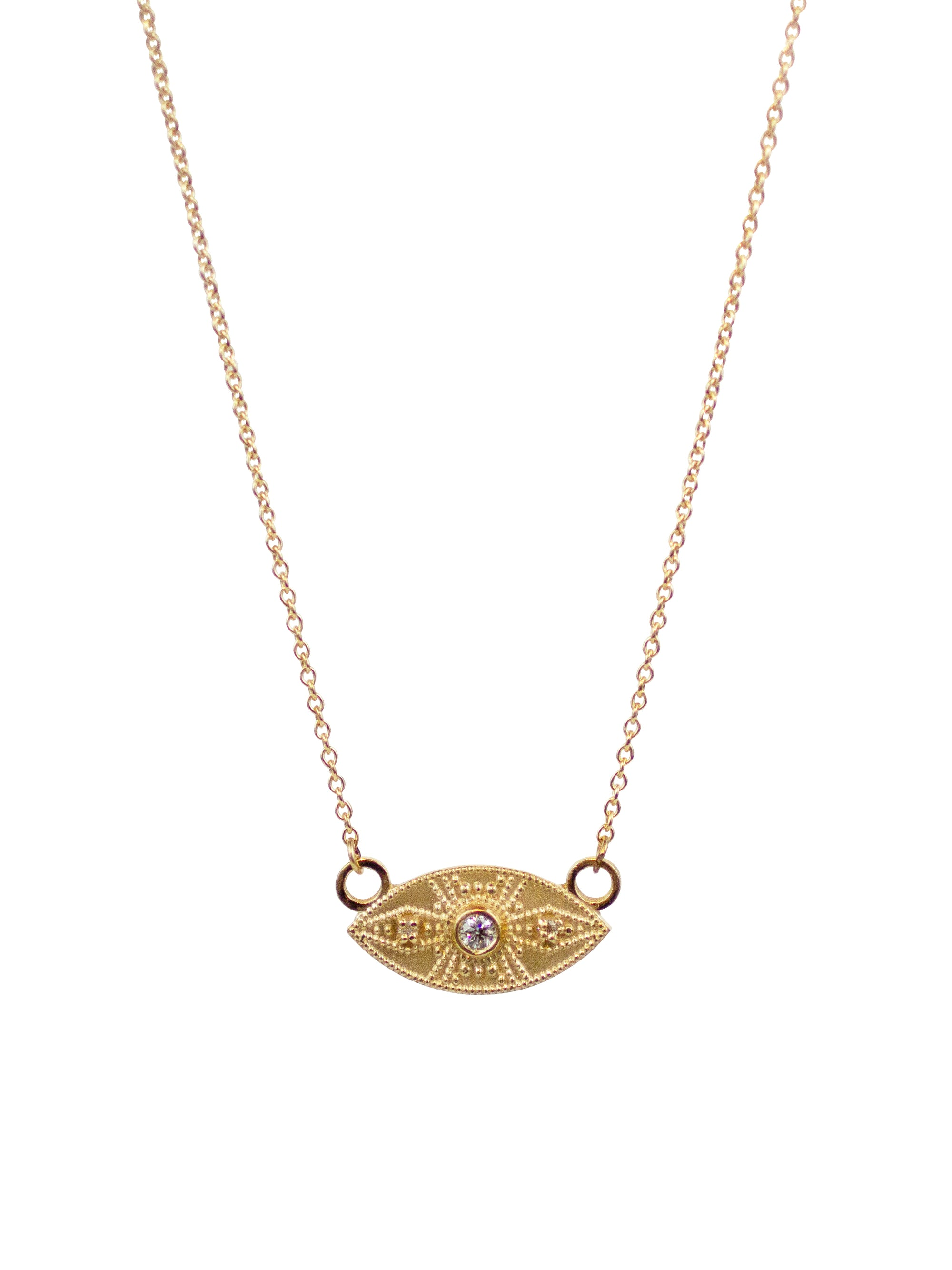 14K Ajna Diamond Necklace