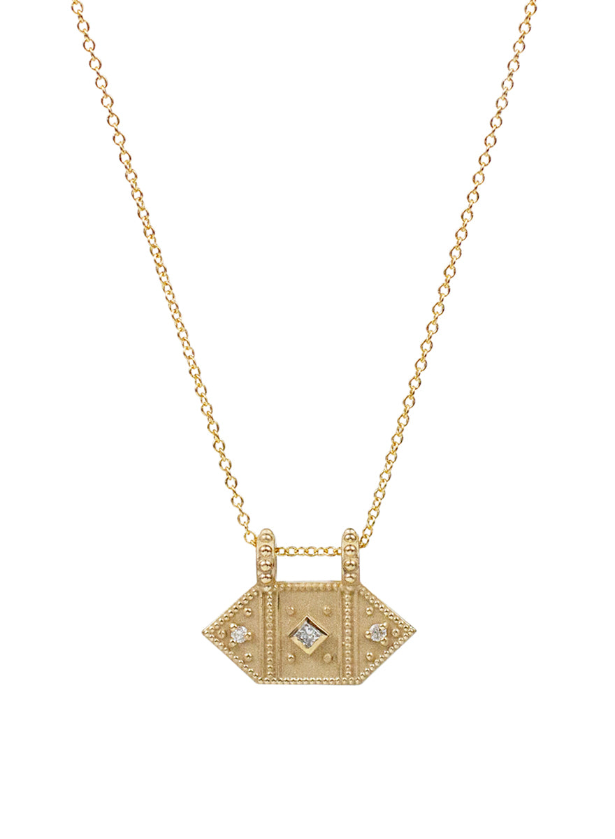14K Nile Diamond Necklace
