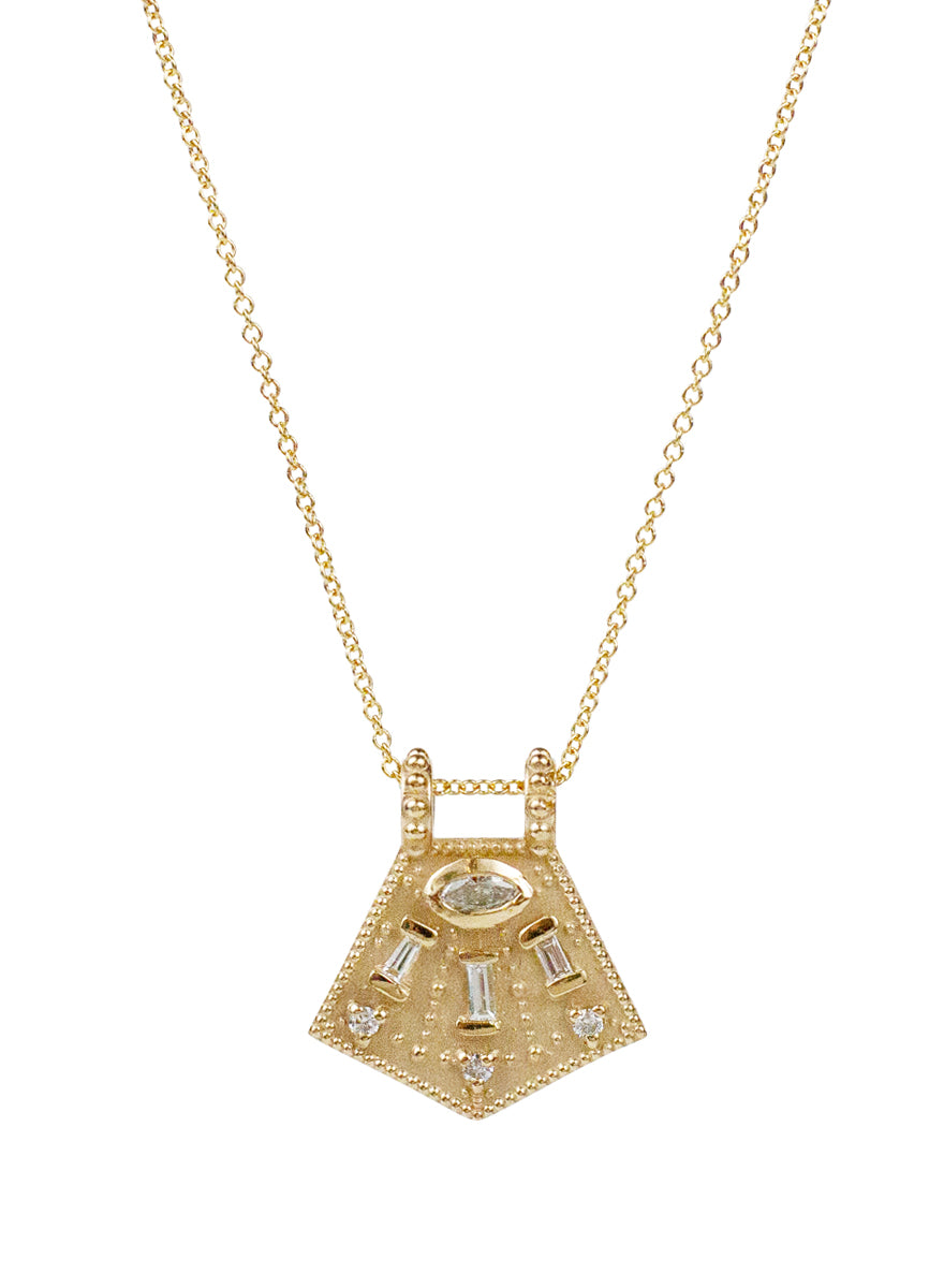14K Satnam Diamond Necklace