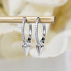 14K Diamond w/ Spike Accent Hoops