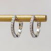 14K Diamond Small Huggie Hoops