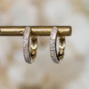 14K Diamond Pavé Huggie Hoops