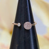 14K Diamond Disc Open Ring
