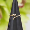 14K Diamond Eyes Snake Ring