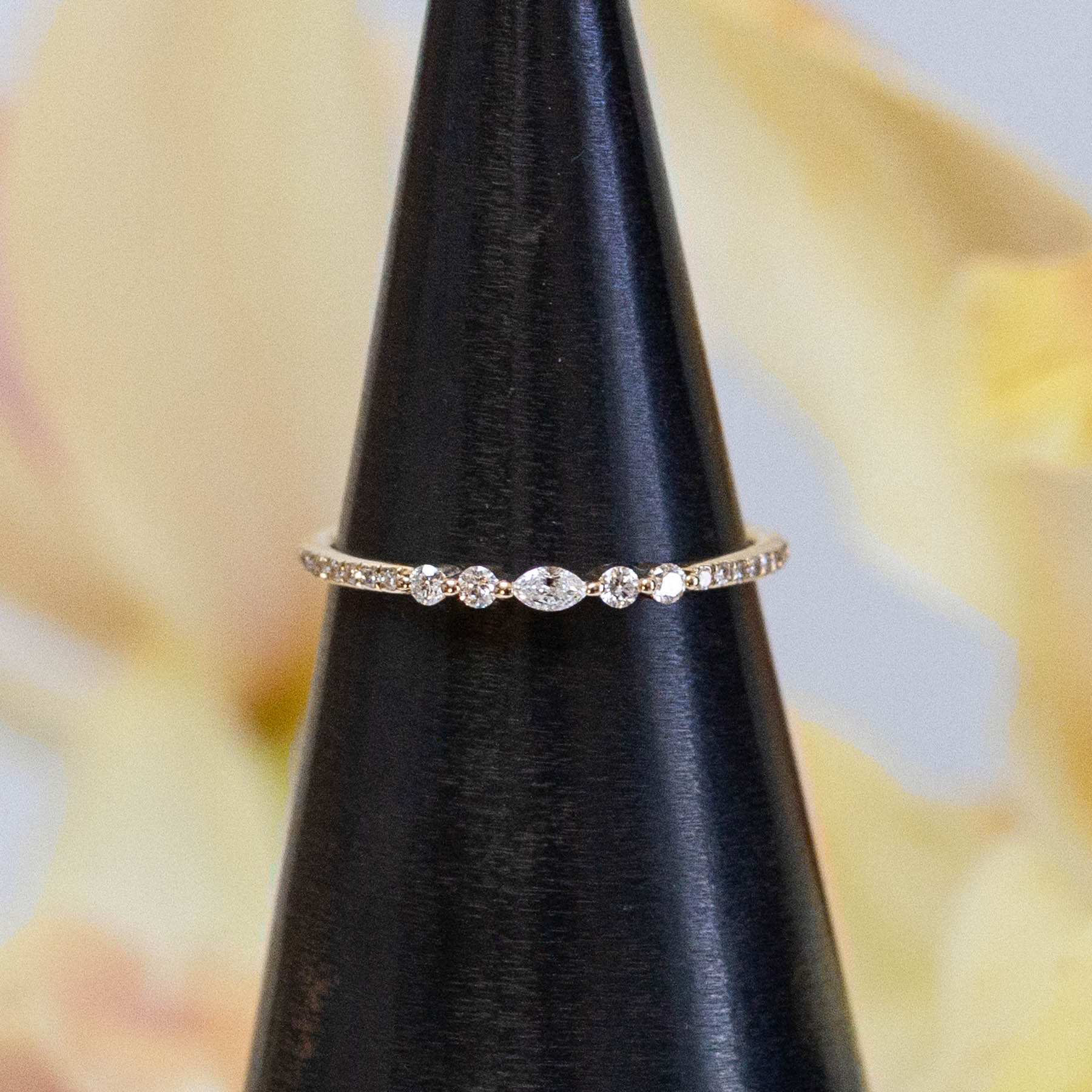 14K Diamond Marquise Ring