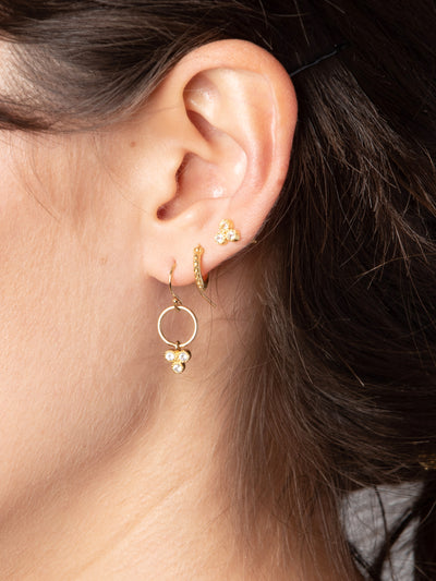 Round Trifecta Earrings