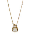 2020 Atlantis Necklace 14k Gold Fill Rutilated Quartz