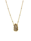 2020 Atlantis Necklace 14k Gold Fill Tourmilated Quartz