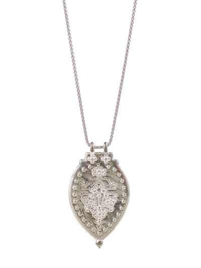 "Laxmi Shield Necklace ""good fortune & abundance"""