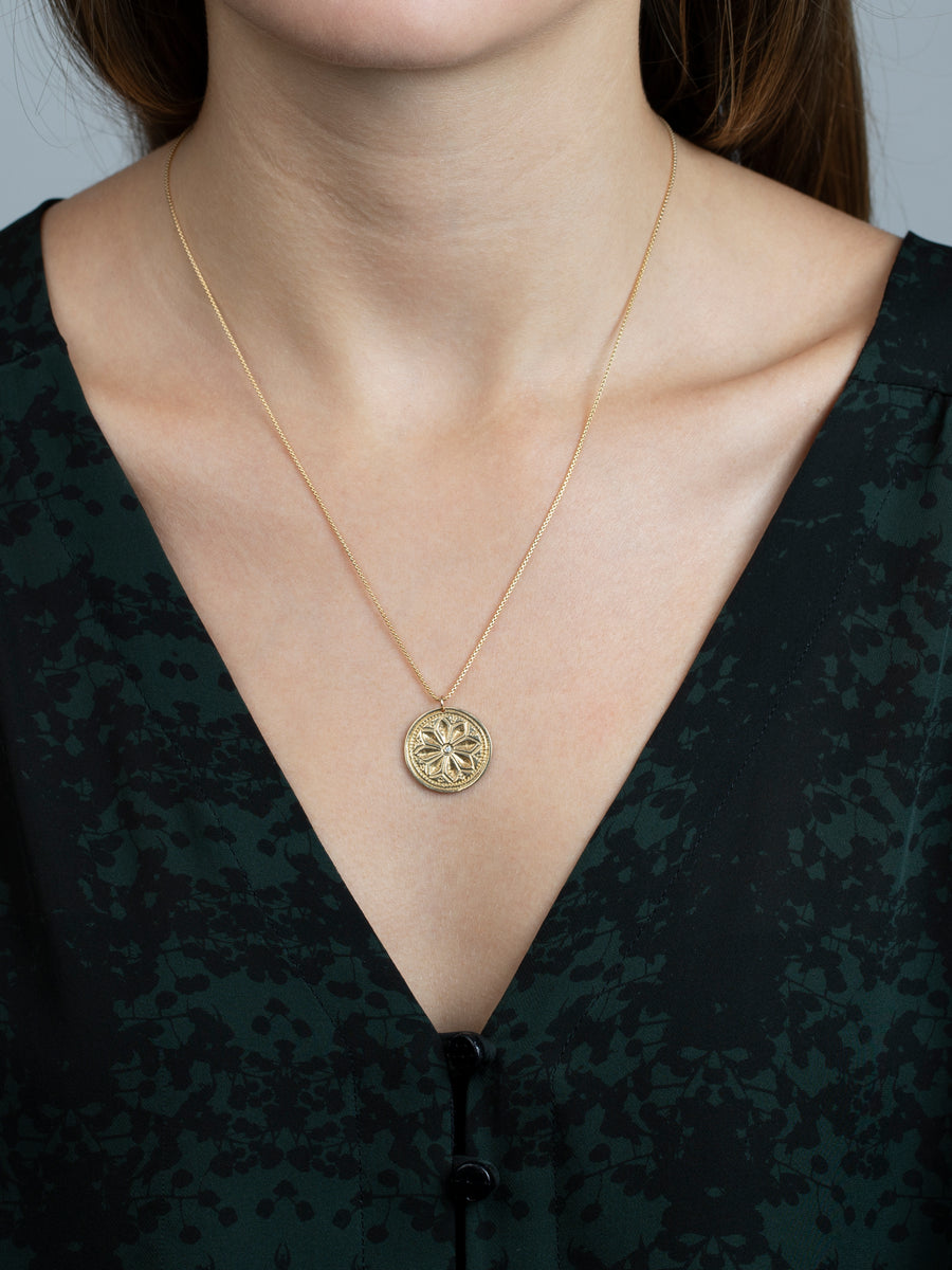 "Lotus Necklace ""bloom in unlikely places"""